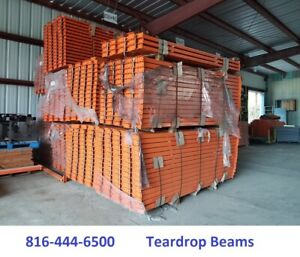 Teardrop Pallet Rack Tear Drop Beams 9 x4 Horizontal Rails New