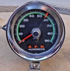 Sun Green Line Tachometer Original Vintage Custom Ford Chevy Dodge Gmc Pontiac