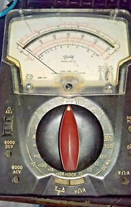Triplett Model 630 na Vintage Volt ohm mete Tested See Text
