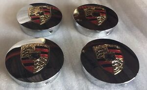 Hre Wheel Center Caps Custom For Porsche Chrome Fit All Series Size 2 5 o Ring 4