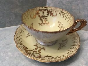 Vintage Wide Mouth Pearlized Porcelain Japanese Tea Cup