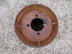 Farmall H Sh Sm 300 350 460 Tractor Orignl Ih Steel Belt Pulley Real Nice