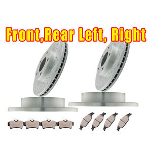 For 1999 2004 Ford Mustang Base 3 8l Front Rear Brake Ceramic Pads And Rotors