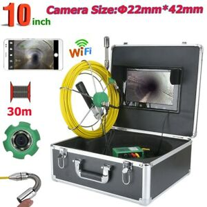 Wireless 22mm Industrial Pipe Sewer Inspection Video Camera System Video Record