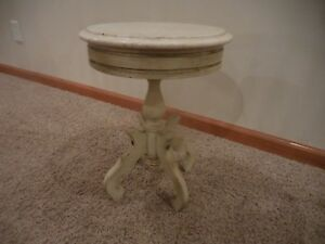 Vintage Victorian Solid Genuine Mahogany 413 Marble Top Plant Stand Table