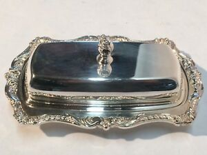 Epca Old English Silverplate By Poole Silver Plated Butter Dish 5011