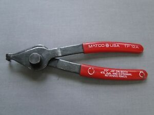 Matco Tools Snap Ring Internal External Retaining Ring Pliers Tp12a
