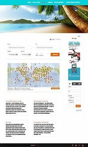 Travel And Vacation Website Business For Sale Responsive Mobile Friendly Design