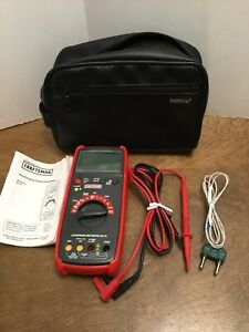 Craftsman Autoranging 82175 Digital Multimeter Tester Leads Temperature Probe