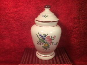 Pharmacy Jar Antique Vintage French Faience Apothecary Pharmacy Jar Ff688