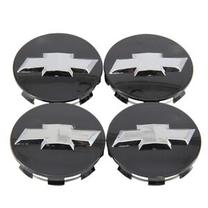 4pcs Black 3inch Wheel Center Caps For Chevy Avalanche Silverado Suburban Tahoe