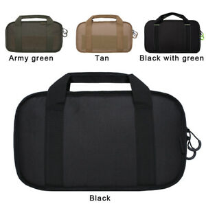 Airsoft Tactical 14quot; Rectangle Padded Handgun Pistol Carry Case Bag Pouch $15.99