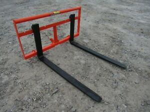 Kubota Bx Sub Compact Tractor 42 Pallet Fork Attachment 2 200 Pound Ship 179