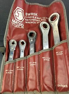 ad517 Matco Tools Swr5k 5 piece 6 12 Point Sae Ratcheting Box Wrench Set