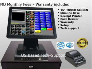 Hp 15 Touch Screen Pos Point Of Sale System Hardly Used Bar Restaurant Retail
