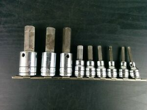 ad640 S k Tools 9 Piece Multi Drive Sae Hex Socket Driver Set 5 32to 5 8