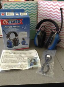 Elvex Aware Electronic Ear Muff Defenders Am Fm Radio Intelligent Filters Com680