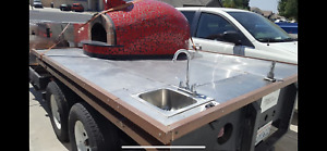 Wood Fire Pizza Oven Food Trailer Truck Mobile Concession Forno Classico