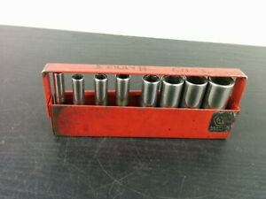 ad666 Matco Tools 8 Piece 1 4 Drive Sae Deep 6 Point Socket Set