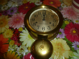 Seth Thomas External Bell Ship S Clock Brass Very Nice