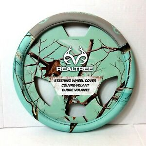 New Mint Green Realtree Steering Wheel Cover Camouflage Auto Car Truck Fits Most