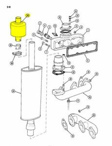 Oem Case A135428 Spark Arrestor For 1194 1294 1594