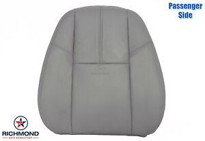 2007 2013 Chevy Avalanche Lt Ls Passenger Side Lean Back Leather Seat Cover Gray