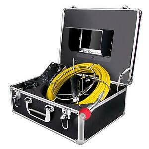 Sewer Camera 100ft Snake Cam With Dvr Video Pipe Inspection Equipment 7 Inch Lcd
