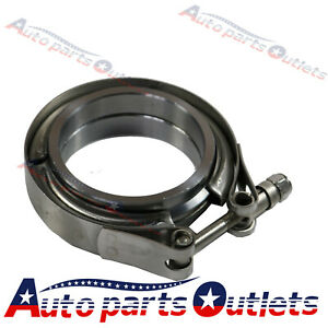 2 5 V band Flange Clamp Kit For Turbo Exhaust Downpipes Stainless Steel