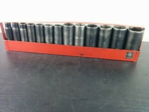 ad690 Matco Tools 13 Pc Impact Deep Well 6 Point 1 2 Drive Socket Cdp