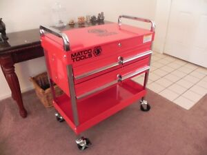 New Matco Sp8230 Sp8225 Double Drawer Service Cart With Lid Red