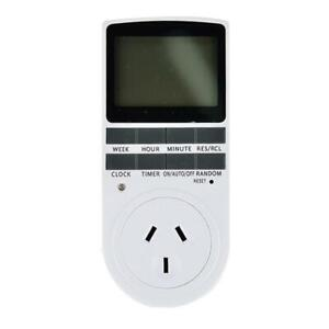 Digital Timer Switch Automation Socket Electric Programmable Power Au Plug