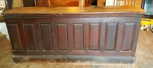 8 Ft Victorian Quartersawn Oak Counter Front Bar W Apothecary Back