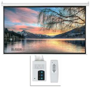 Leadzm 92 16 9 White Display Electric Motorized Projector Screen remote Control