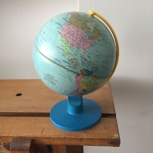 Vintage Tin Mini Scan World Globe