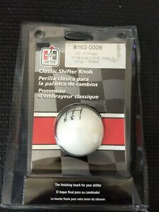Nos Hurst White 5 speed Shift Knob 3 8 16 Threads 1630008