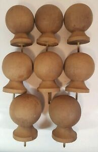 Set Of 8 Wood Finial Deck Post Cap Porch Decor Wolmanized Vintage Distressed Old