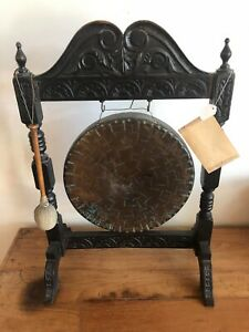 Antique Bermese Dinner Gong 18th Century Pristine Condition