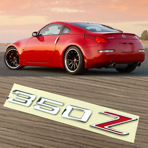 New Fits 350z Trunk Emblem Badge 3d Red And Chrome 350z Fairlady Z