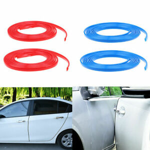 Diy 20ft 6m Red Car Door Edge Strip Guard Protector Moulding Trim Anti Dent Line