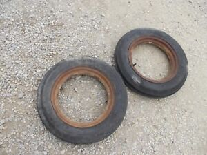 Farmall A C B Bn Tractor Ih Front 4 00x15 Lke Nuw Tires Ihc Open Center Rims