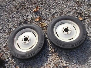 Massey Harris 33 Tractor Rims 5 00 X 15 Sl 4ply Front Carlise Tires Mh