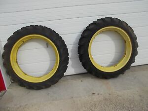 Good Year 11 2x38 Tractor Tires 98 Tread John Deere A B G Rims Ih H M Sh Sm