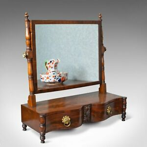 Antique Dressing Table Mirror Mahogany Vanity Platform Toilet Circa 1890