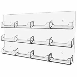 Marketing Holders Gift Card Wall Organizer 12 Pocket Clear Business Acrylic Rack