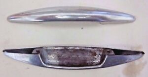 1 Vintage Chrome Stove Oven Cup Pull Handle Furnace Door Drawer Holes 2 3 4