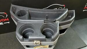 2011 Ford Van E250 Center Dash Console Cup Holder W Storage Gray Trim Code E