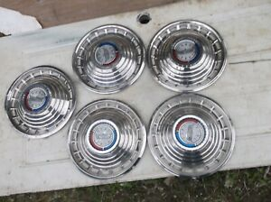 1963 Ford Galaxie 500 Sunliner Nice 14 Hubcaps wheel Covers Fomoco Set Of 5