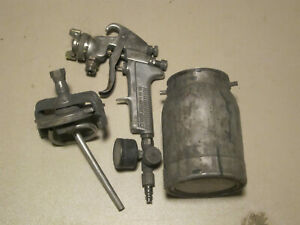 Devilbiss Jga 502 Air Spray Gun W Sharpe 450 Can No 30 Nozzle Needs Repair