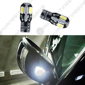 2pc White 168 5630 8 Smd T10 Led Bulbs For Under Mirror Puddle Lights Kit